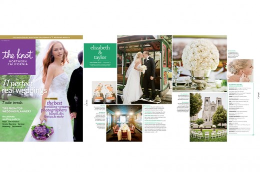 Featured, Featured in The Knot Nothern California Fall/Winter 2012 Issue, The Knot, The Knot Nothern California, Eizabeth & Taylor Wedding, San Francisco Wedding, San Francisco Elopement,