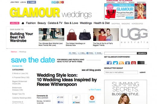 Melanie Duerkopp, Inspired by this, Glamour Weddings, Featured,