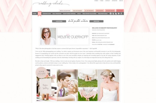 Melanie Duerkopp Photography, Wedding Chicks, Hand Picked Vendor, Featured, Seen In