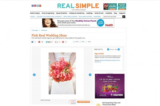 Melanie Duerkopp Photography, Wedding Bouquet, Red & Pink Flowers, Wedding Ideas, Featured, realsimple.com