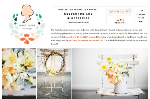 Featured on Grey Likes Weddings, Melanie Duerkopp Photography
